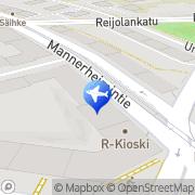 Kartta Auto Alex autovuokraamo Helsinki, Suomi