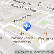 Kartta Taksiasema Helsinki Porvoonkatu Helsinki, Suomi