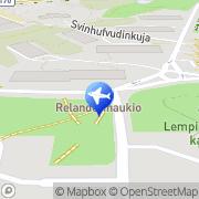Kartta Taksiasema Helsinki Kulosaari Helsinki, Suomi