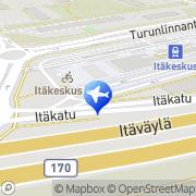 Kartta Taksiasema Helsinki Itäkeskus Helsinki, Suomi