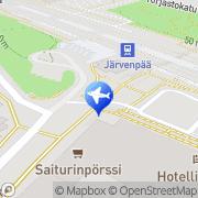 Kartta Taksiasema Järvenpää asema Järvenpää, Suomi