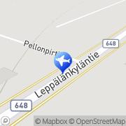 Kartta Kanonkosken taksiasema Kannonkoski, Suomi