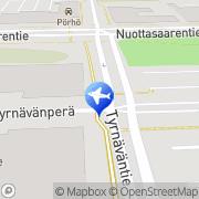 Kartta Auto-Kaikkonen Oulu, Suomi