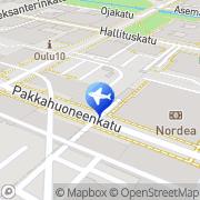 Kartta Finnmatkat Oulu, Suomi