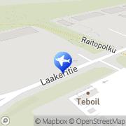 Kartta Pohjolan Matka., linja-autoliikenne Oulu, Suomi