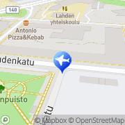 Kartta Taksiasema Lahti Tori Lahti, Suomi