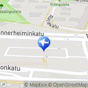 Kartta Taksiasema Lahti rautatieasema Lahti, Suomi