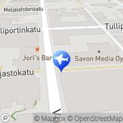 Kartta Pohjolan Matka, liikematkat Kuopio, Suomi