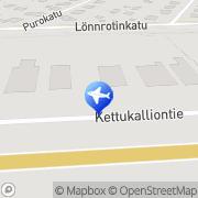 Kartta Autovuokraamo Kajaani Scandia Rent Kajaani, Suomi