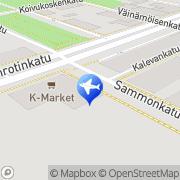Kartta Taksiasema Linja-autoasema Kajaani, Suomi