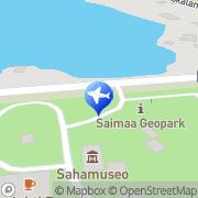 Kartta BlueWhite Resort Sahanlahti Puumala, Suomi