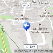 Carte de Office de Tourisme Syndicat d'Initiative Avallon, France