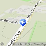 Kaart Sangers Bungalowverhuur G A De Waal, Nederland