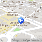 Carte de Office de Tourisme de Pontarlier, France