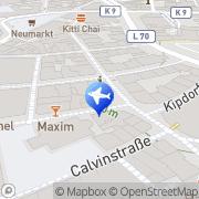 Karte Hapag Lloyd Reisebüro Wuppertal, Deutschland