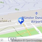 Karte TUI Discount Travel Flughafen Münster/Osnabrück Greven, Deutschland