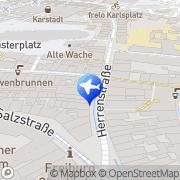 Karte Reisebüro Bühler Lufthansa City Center Freiburg, Deutschland