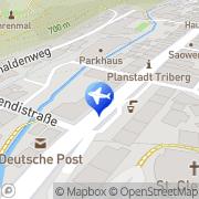 Karte Reisebüro Bühler Lufthansa City Center Triberg, Deutschland