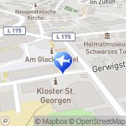 Karte Reisebüro Bühler Lufthansa City Center Sankt Georgen, Deutschland
