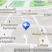 Karte Reise Quelle Karlsruhe, Deutschland