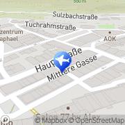 Karte Reisebüro Bühler Lufthansa City Center Oberndorf am Neckar, Deutschland