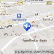 Karte Taxi Kreiter Herrenberg, Deutschland