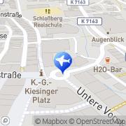 Karte Reisebüro Bühler Lufthansa City Center Albstadt, Deutschland