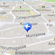 Karte Reisebüro Bühler Lufthansa City Center Tübingen, Deutschland