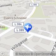 Karte Reisebüro Bühler Lufthansa City Center Mössingen, Deutschland