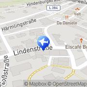 Karte Reisebüro Bühler Lufthansa City Center Gomaringen, Deutschland