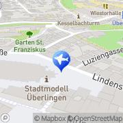 Karte Reisebüro am Münsterplatz GmbH Überlingen, Deutschland
