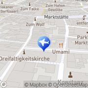 Karte Reisebüro Bühler Lufthansa City Center Konstanz, Deutschland