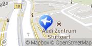 Karte VW FS Rent-a-Car - Feuerbach Audi Stuttgart, Deutschland