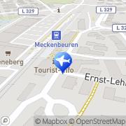 Karte Reisebüro im Bahnhof Meckenbeuren, Deutschland