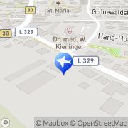 Karte Reisebüro Bühler Lufthansa City Center Business Travel Meckenbeuren, Deutschland