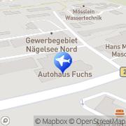 Karte Autohaus Fuchs Lohr, Deutschland