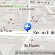 Karte l'tur Reise-Shop Hamburg Reeperbahn Hamburg, Deutschland