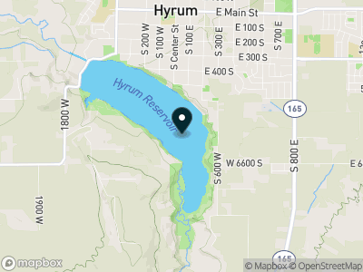 Hyrum Reservoir Map