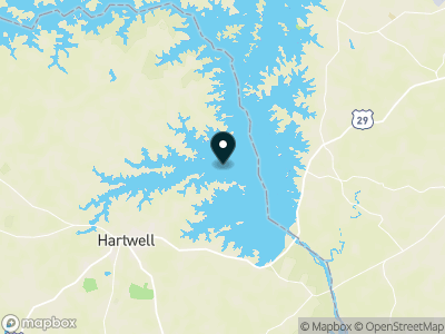 Lake Hartwell Map