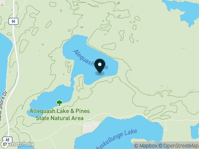 Allequash Lake Map