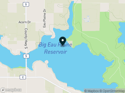 Big Eau Pleine Reservoir Map