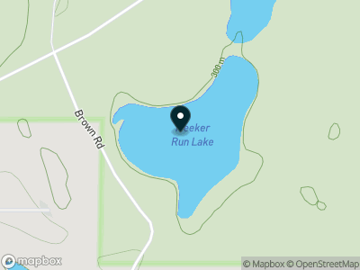 Meeker Run Lake Map