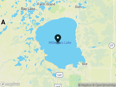 Mille Lacs Lake Map