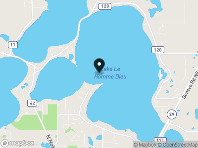 Lake Le Homme Dieu Map