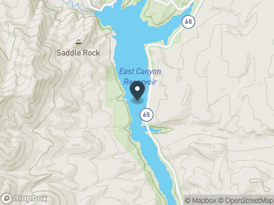 East Canyon Reservoir Map