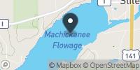 Machickanee Flowage Map