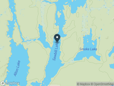 Sawbill Lake Map