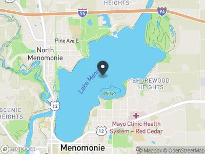 Lake Menomin Map