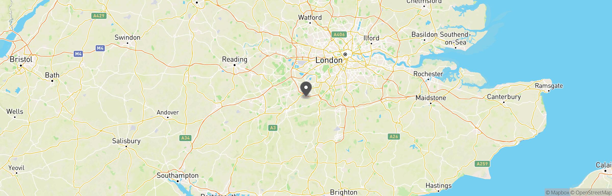 Location map of Ambush Airsoft