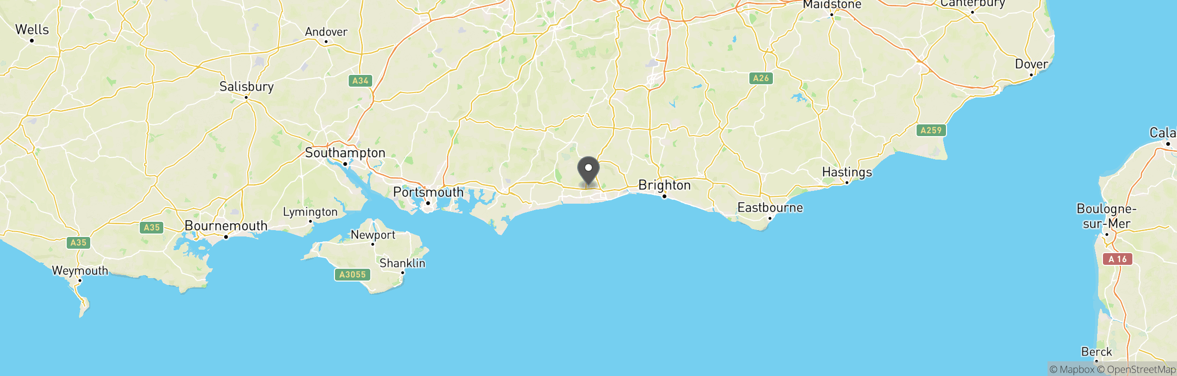 Location map of Worthing Airsoft
